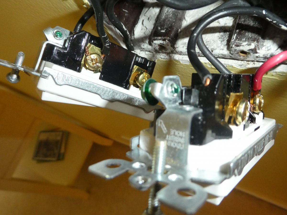 Ceiling Fan Wont Turn Off Via Switch After New Installed Three Way Miswired See Attached Photos Imagejpeg