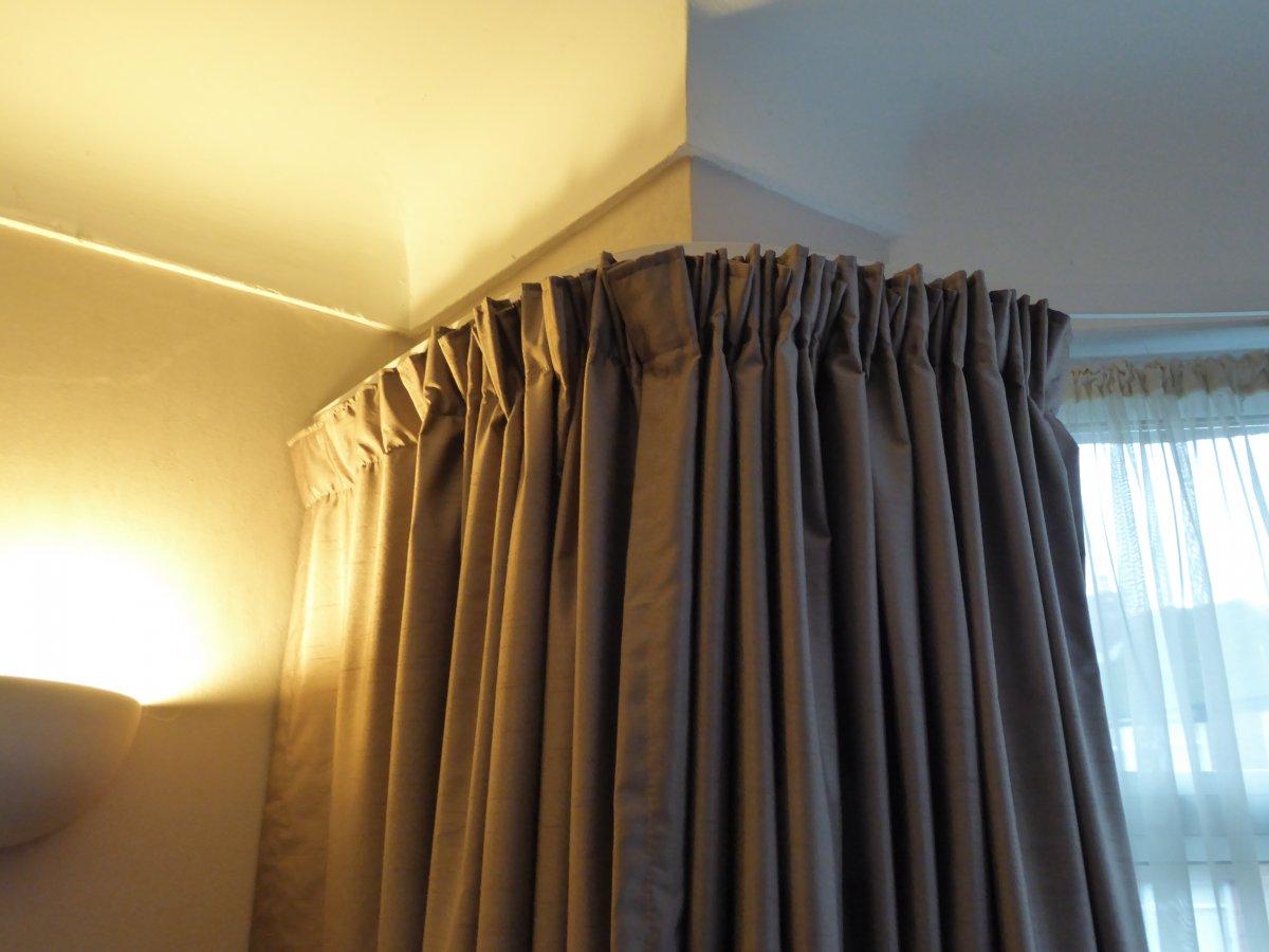 Bending Plastic Curtain Track Diy Forums